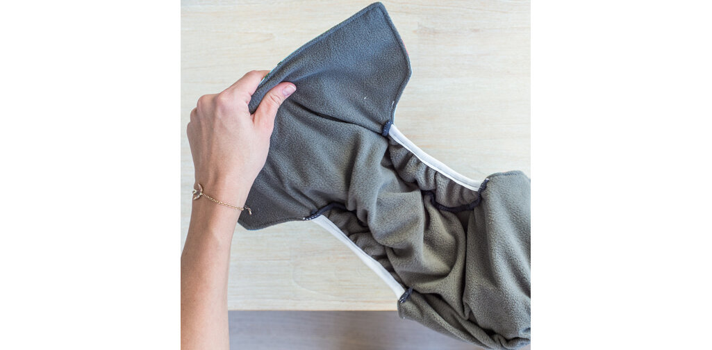 Little Genie Reusable Nappies - Grey image