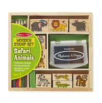 Melissa & Doug: Wooden Stamp Set - Safari Animals