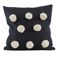 Raine & Humble Giant Pompom Cushion (Black)