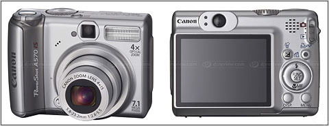 Canon A570IS 7.1Mp 4x Optical Zoom Digital Camera