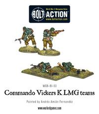British Army - Commando Vickers K LMG teams