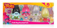 Trolls Mega Key Chain Plush - 4 Pack