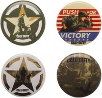 Call of Duty WW2 Button 4 Pack