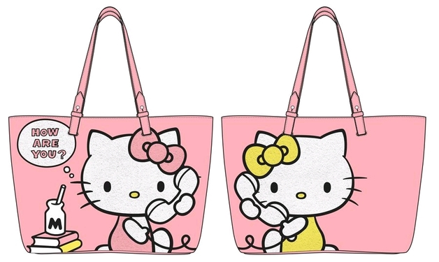Loungefly  Hello Kitty - How Are You Pink Tote Bag  9884ac062b1e2