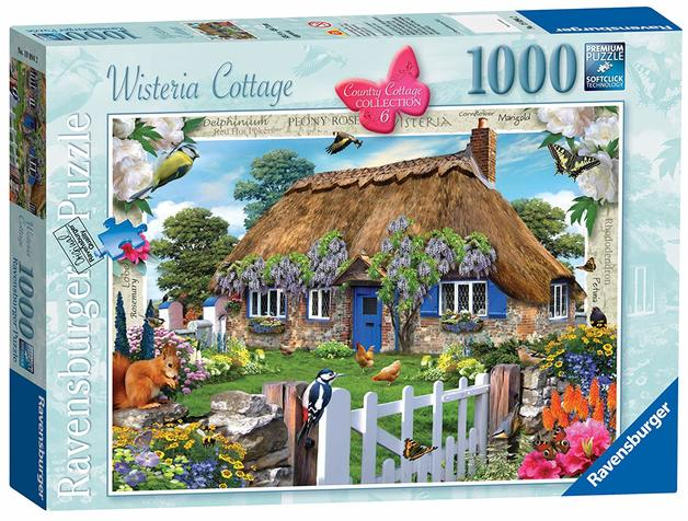 Ravensburger: 1,000 Piece Puzzle - Wisteria Country Cottage