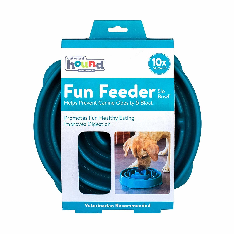 Outward Hound: Fun Feeder Teal - Large image