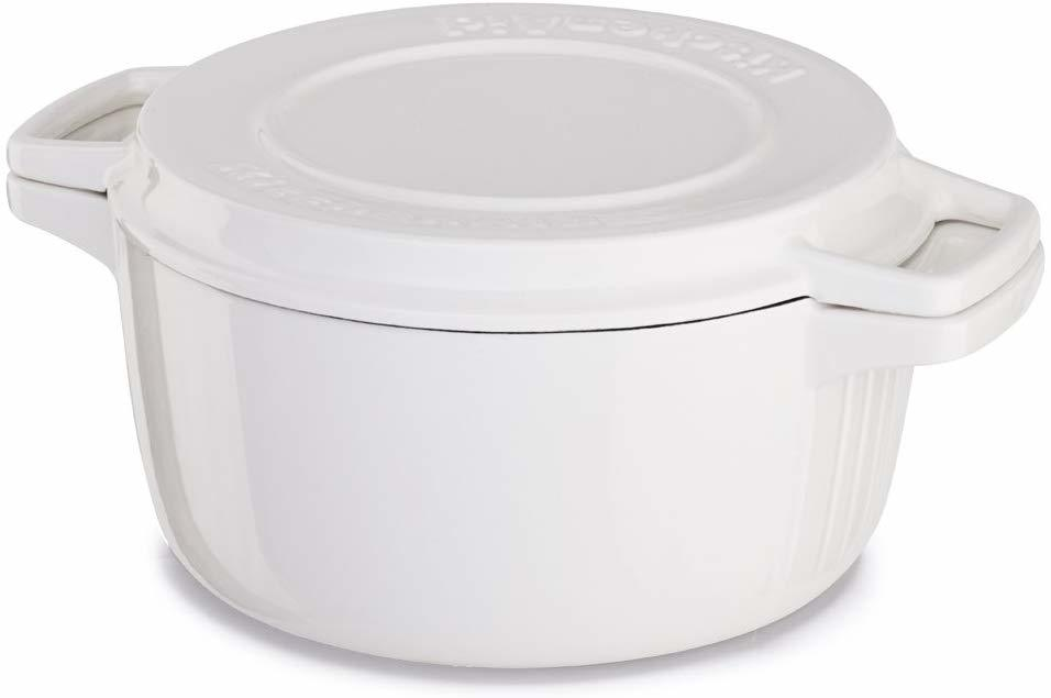 KitchenAid: Cast Iron Casserole Dish - Almond Cream (3.8L) image