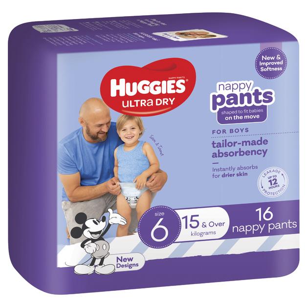 Huggies: Ultra Dry Nappy Boy Pants Size 6 (16 Pack)