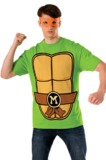 TMNT Michelangelo Costume T-Shirt & Mask (M)