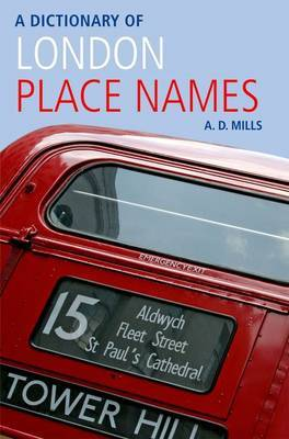 A Dictionary of London Place-Names by A.D. Mills image