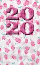 2020 Pink Flowers Journal by Carol Ann Cartaxo