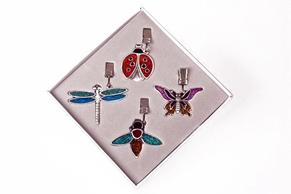 Pewter Tablecloth Weights - Bugs Set of 4