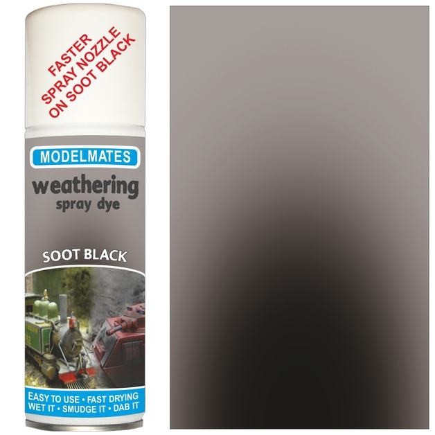 Modelmates: Weathering Spray Can - Soot Black