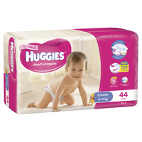 Huggies Ultra Dry Nappies Bulk - Crawler Girl 6-11kg (44)