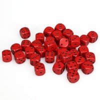 Chessex: D6 Opaque Cube Set (12mm) - Red/Black image