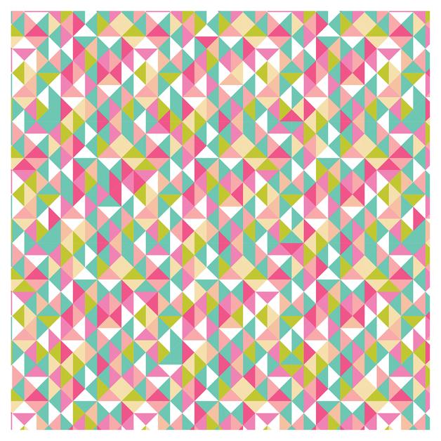 SKINZ: Book Cover - Retro Triangles (45cm x 1m)