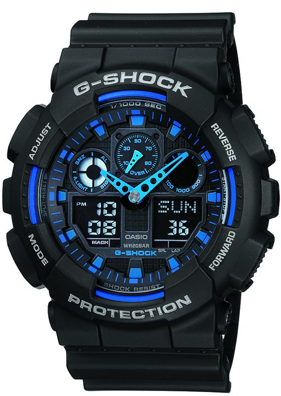 Casio G-Shock Analogue/Digital Mens Black XL Series Watch GA-100-1A2