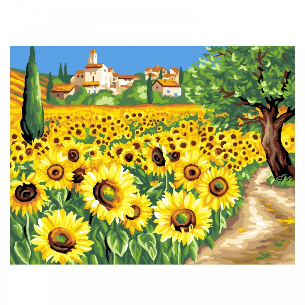 Paint by Numbers - Sunflowers image