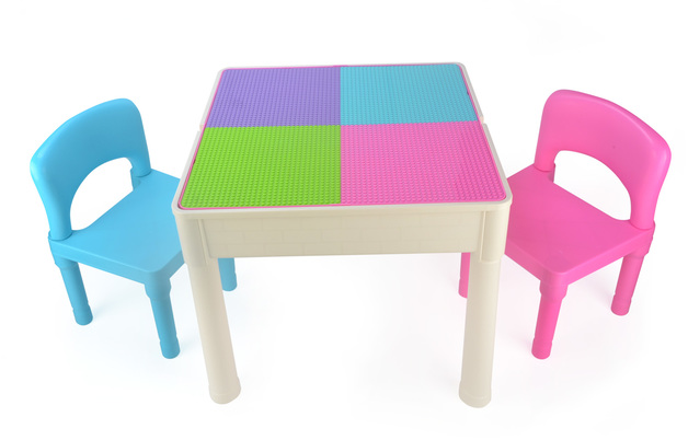 Kids Square 3-in-1 Activity Table (Pastel)