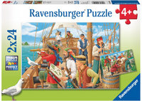Ravensburger - With The Pirates Puzzle (2x24pc)