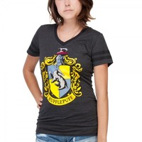Harry Potter Hufflepuff Slimfit T-Shirt (X-Large)