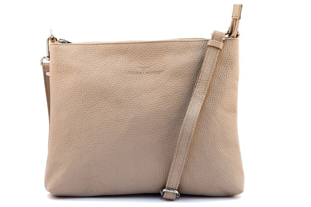 Urban Forest: Emma Leather Sling Bag - Sand