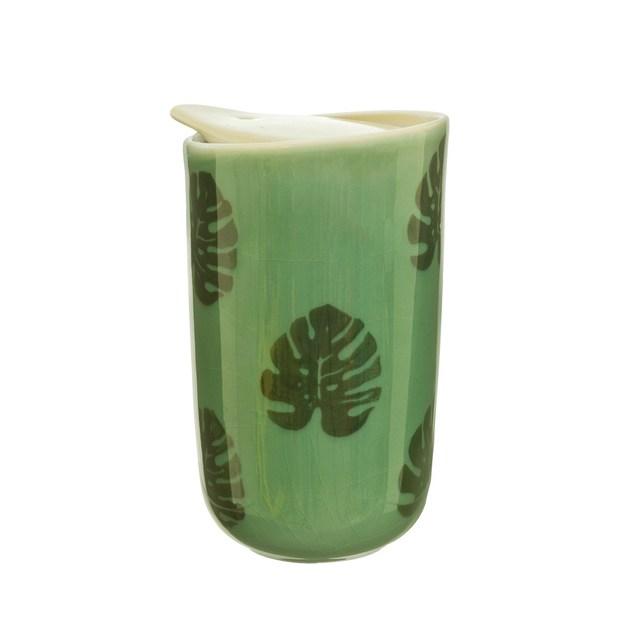 Sass & Belle: Cheese Plant Leaf Ceramic Travel Mug