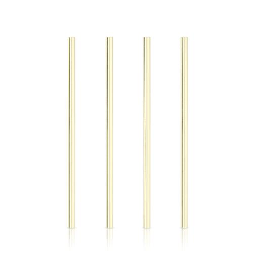 Viski: Belmont Wide Gold - Cocktail Straws (Set of 4)