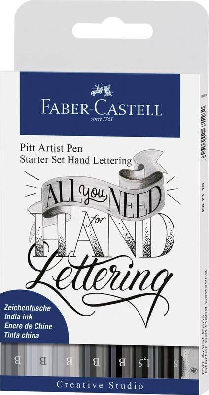 Faber-Castell: Pitt Artist Pens Hand Lettering (Set of 8)