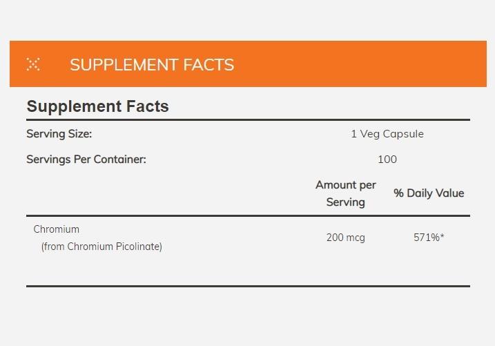 Now Foods Chromium Picolinate 200 mcg (100 Caps) image