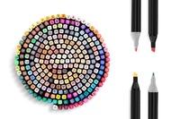 Essentials For You: 262-Piece Colour Marker Set (Black)