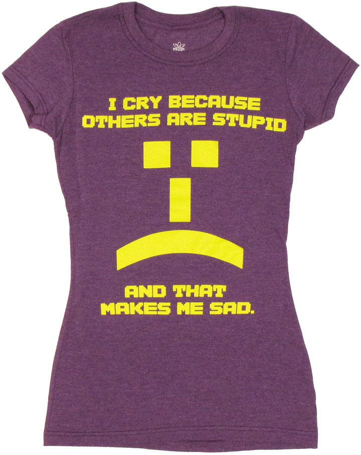 The Big Bang Theory Others Are Stupid Emoticon Women's T-Shirt - small image