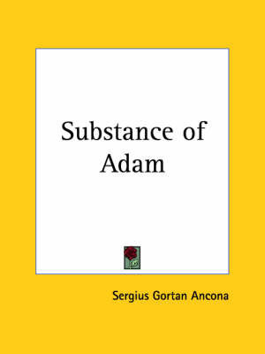 Substance of Adam (1934) by Sergius Gortan Ancona