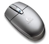 Logitech V270 Cordless Optical Bluetooth Notebook Mouse - Grey