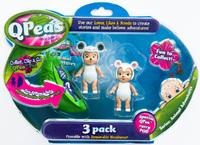 QPeas: Posable Mini Dolls - 3-Pack (Zaine & Bella)