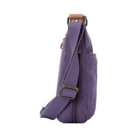 Troop London: Classic Small Zip Top Shoulder Bag - Purple image