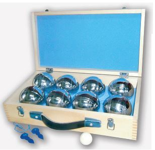 8 Ball Metal Petanque Set