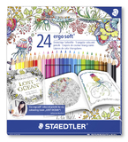 Staedtler - Ergosoft Colour Pencils Johanna Basford - Pack of 24