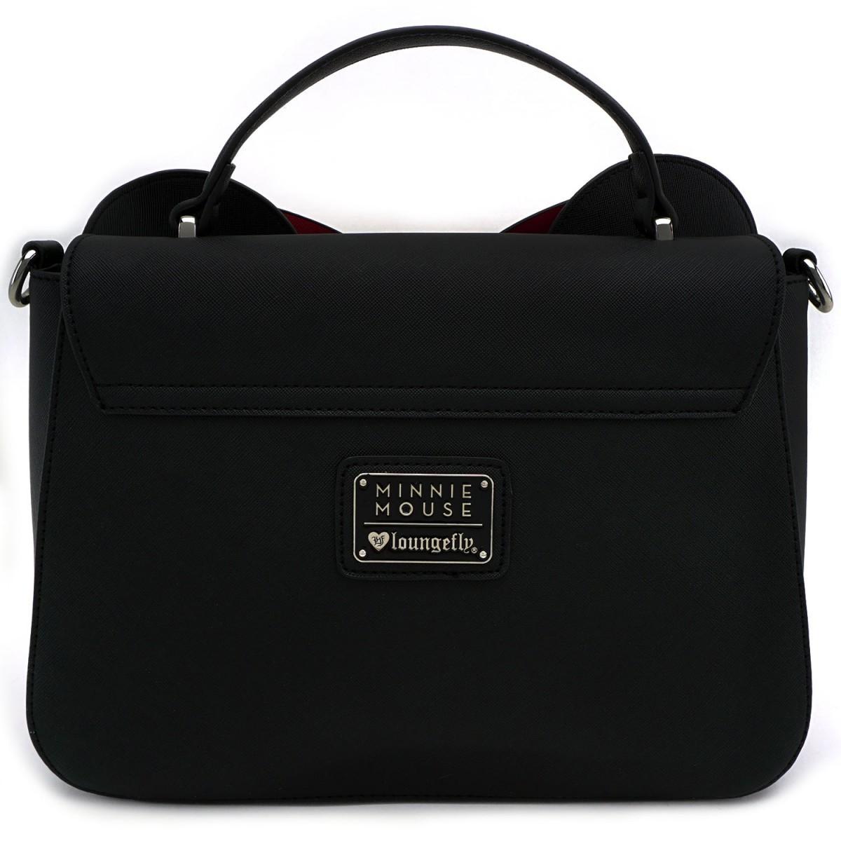 44575eb27fc ... Loungefly  Disney Minnie Mouse - Black Bow Crossbody Bag image ...