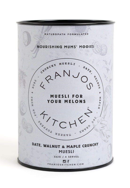 Franjos Kitchen: Tanker Topper Muesli – Date, Walnut and Maple (362g)