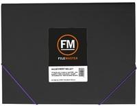 FM Vivid Black A4 Document Wallet (Purple Passion)