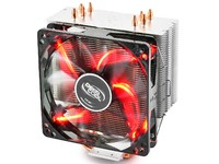 Deepcool Gammaxx 400 CPU Cooler Red; 4 Heatpipes; 120mm PWM LED Fan