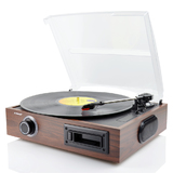 mBeat Woodstock Retro Turntable Player – Black
