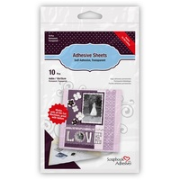 3L Double Sided Scrapbook Adhesive Sheets - 10x15cm (10 Pack)
