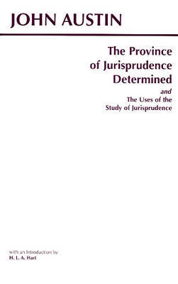 The Province of Jurisprudence Determined and The Uses of the Study of Jurisprudence by John Austin image