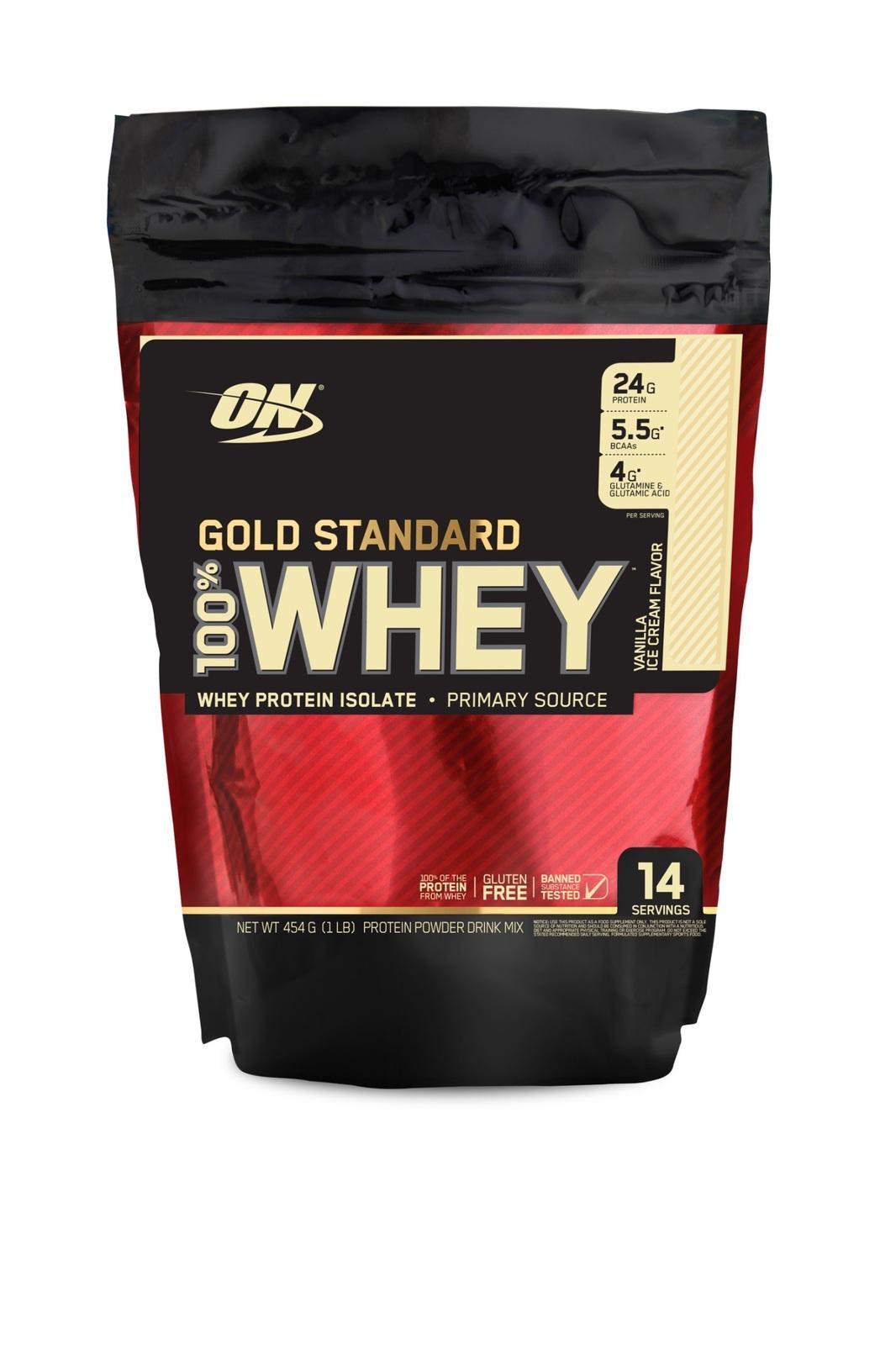 Optimum Nutrition Gold Standard 100% Whey - Vanilla Ice Cream (454g) image