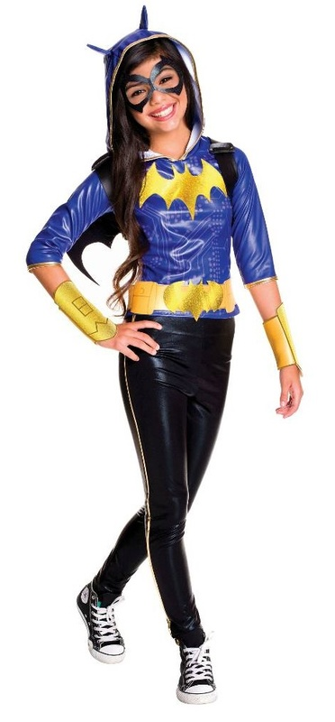 DC Super Hero Girls: Batgirl Girls' Deluxe Costume - (Size 6-8)