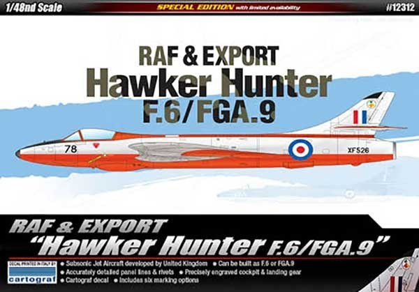Academy Hawker Hunter F.6/FGA.9 1/48 Model Kit
