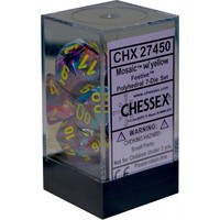 Chessex: D7 Festive Dice Set - Mosaic/Yellow