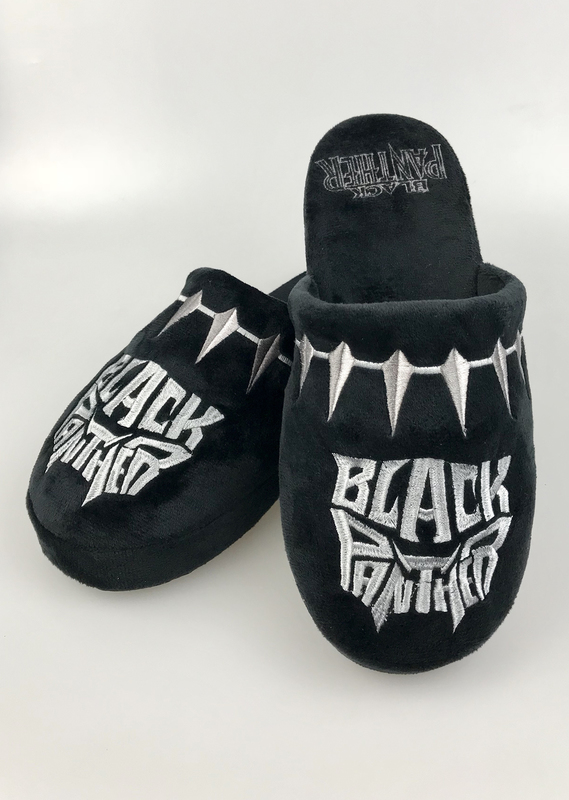 Marvel: Black Panther Mule Slippers - Black Adult Large (UK 8-10)